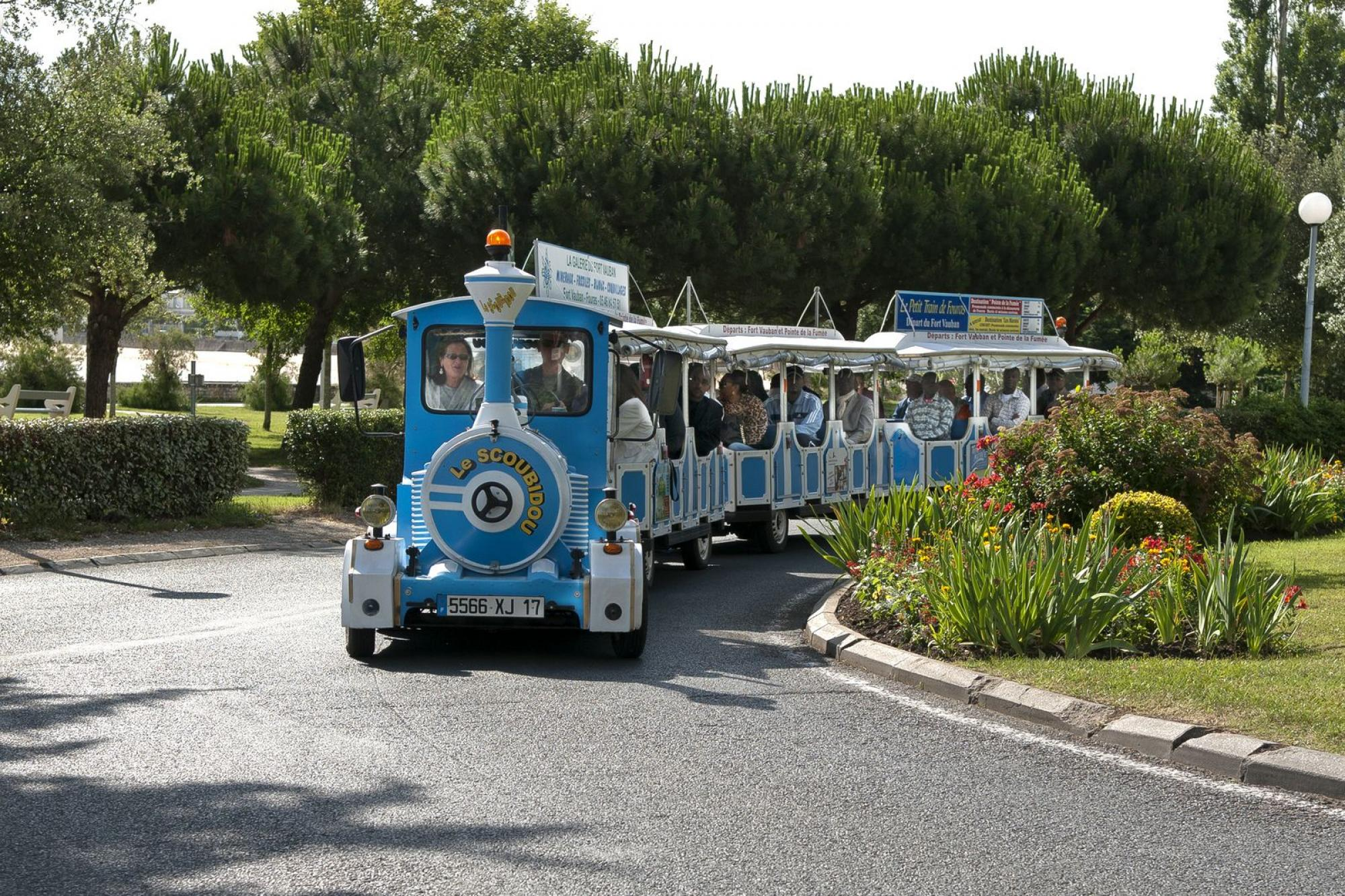 The mini-train of Fouras - Crossings by ferry boats Fouras / Aix island